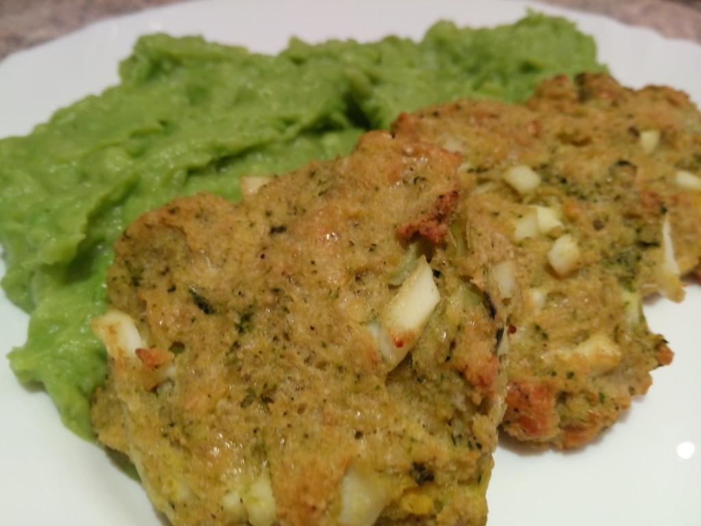 Zeleninovo vajickove fasirky s hraskovym pyre